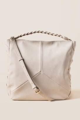 francesca's Arielle Braided Strap Hobo - Ivory