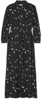 Equipment Major Printed Silk Crepe De Chine Maxi Dress - Black