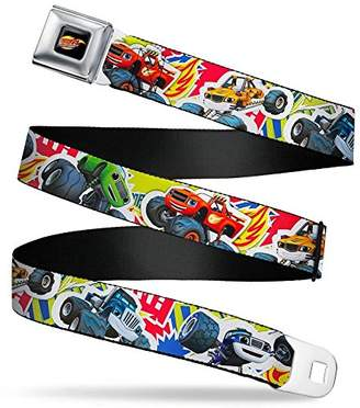 Buckle-Down Men's Seatbelt Belt Blaze W L