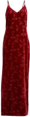 ELIZABETH AND JAMES Valerie velvet slip dress $414 thestylecure.com