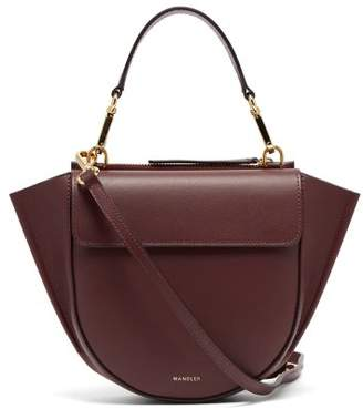 Wandler - Hortensia Mini Leather Cross Body Bag - Womens - Burgundy