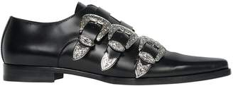 DSQUARED2 20mm Leather Shoes W/ Western Buckles