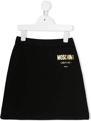 Moschino Kids contrast logo skirt