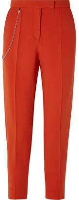Bottega Veneta Chain-embellished Wool-blend Tapered Pants - Orange