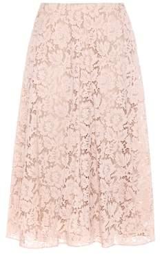 Valentino Lace cotton-blend skirt