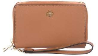 Tory Burch Leather Zip-Around Wallet