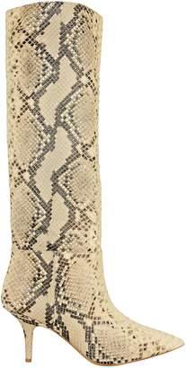 Yeezy Snakeskin-Embossed Boots