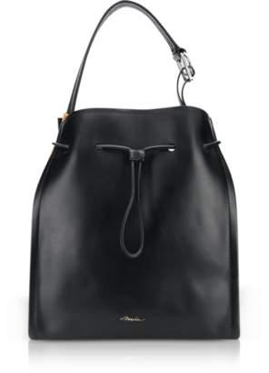 3.1 Phillip Lim Black Leather and Cinnamon Suede Hudson Market