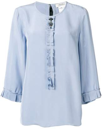 Max Mara 'S ruffle trim blouse