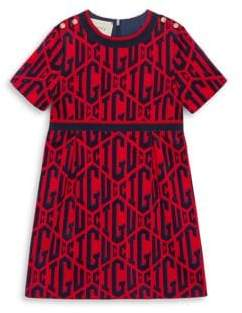 Gucci Little Girl's& Girl's Graphic Knit A-Line Dress