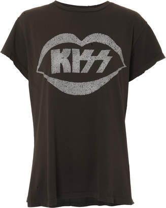 Madeworn Kiss Glitter Graphic T-Shirt