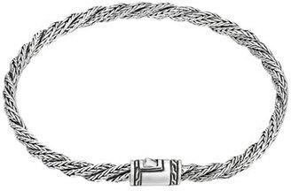 John Hardy Classic Chain Slim Twist Bracelet, Size M $350 thestylecure.com
