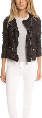 Giorgio Brato Double Zip Lace Leather Jacket