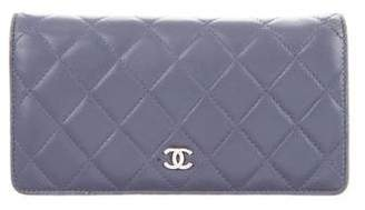 Chanel Lambskin Quilted Yen Wallet