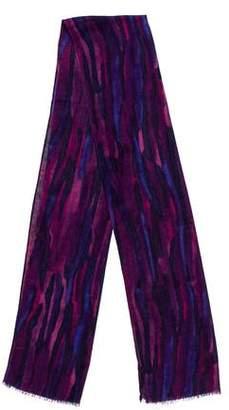 Eileen Fisher Printed Silk-Blend Scarf