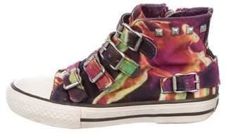 Ash Girls' Printed Embellished Sneakers