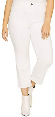Sanctuary Curve Modern High-Rise Straight-Leg Jeans in Angeleno White