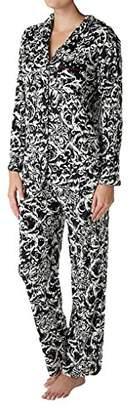 Ellen Tracy Women's Velour Pajama Set