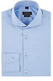 Barneys New York Men's Gingham Cotton Poplin Shirt - Lt. Blue