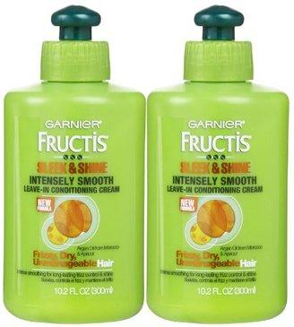 Garnier Fructis Sleek & Shine Leave-In Conditioning Cream, 10.2 oz, 2 pk $13.45 thestylecure.com