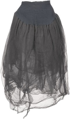 Marc Le Bihan asymmetric midi skirt