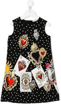 Dolce & Gabbana card print dress