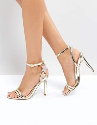 Office Hotter Metallic Heeled Sandals
