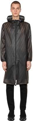 Fendi Ff Printed Transparent Pvc Rain Coat