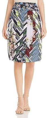 Tory Burch Printed Silk Pleated Skirt