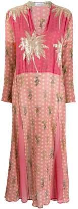 AILANTO embellished palm tree dress