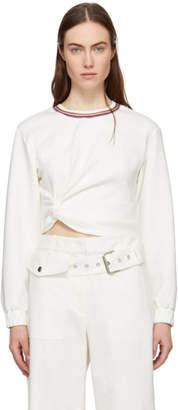 3.1 Phillip Lim White Twisted Sweatshirt