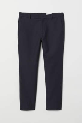 H&M Ankle-length Flannel Pants - Blue