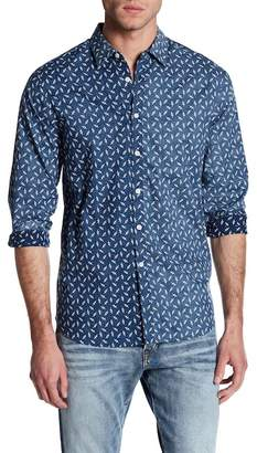 Indigo Star Jule Long Sleeve Reverse Print Tailored Fit Shirt