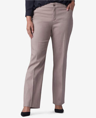 Lee Platinum Plus & Petite Plus Size Straight-Leg Madelyn Trousers