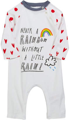 Burberry Tomas Rainbow & Hearts Coverall, Size 3-18 Months