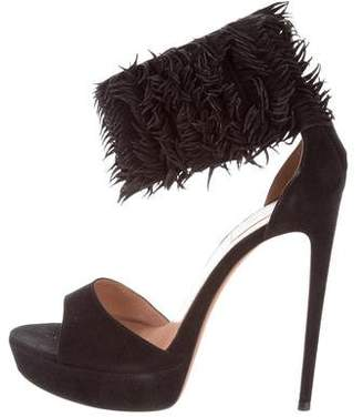 Alaïa Fringe Platform Sandals wiki cheap online shop for outlet pay with paypal free shipping low price clearance largest supplier UlABPyykbm