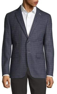 Checkered Notch Lapel Sportcoat