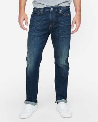 Express Classic Straight Dark Wash Stretch Jeans