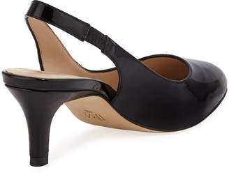 Pelle Moda Kadance Patent Low-Heel Slingback Pumps