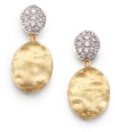 Marco Bicego Siviglia Diamond, 18K Yellow& White Gold Drop Earrings