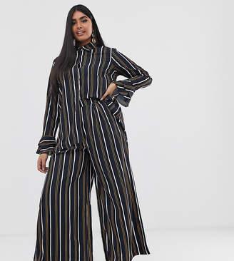 Verona Curve wide leg pants two-piece in multi stripe