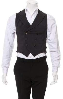 Lanvin Double-Breasted Wool Suit Vest w/ Tags