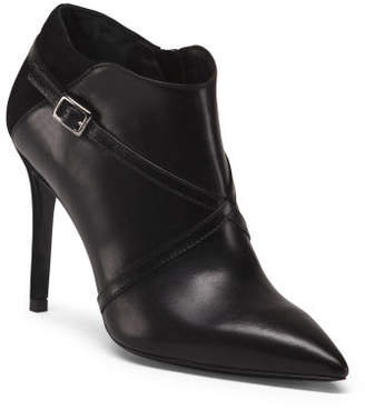 Made In Italy Stiletto Heel Leather Booties