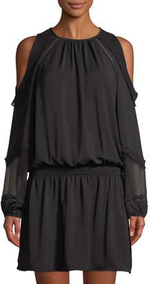 Ramy Brook Duffy Cold-Shoulder Chiffon Dress