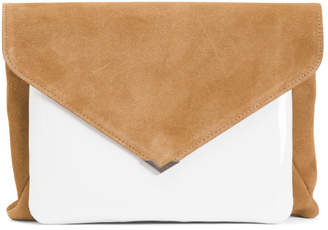 Mila 2 In 1 Leather And Suede Clutch