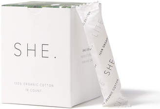 SHE. Organic Tampons - 18 Count