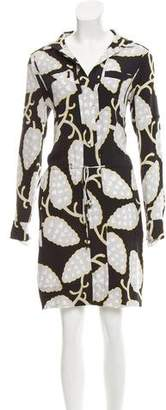 Diane von Furstenberg Silk Button-Up Dress