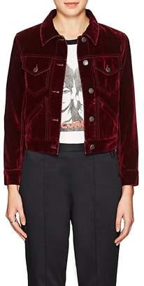 Marc Jacobs Women's Velvet-Flocked Cotton-Blend Denim Jacket