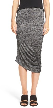 Women's Trouve Ruched Midi Skirt $69 thestylecure.com