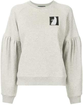 ALEXACHUNG Alexa Chung logo patch sweatshirt